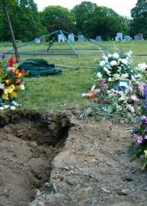 フランキーのお墓(右)。<br>お隣さん入居したてです